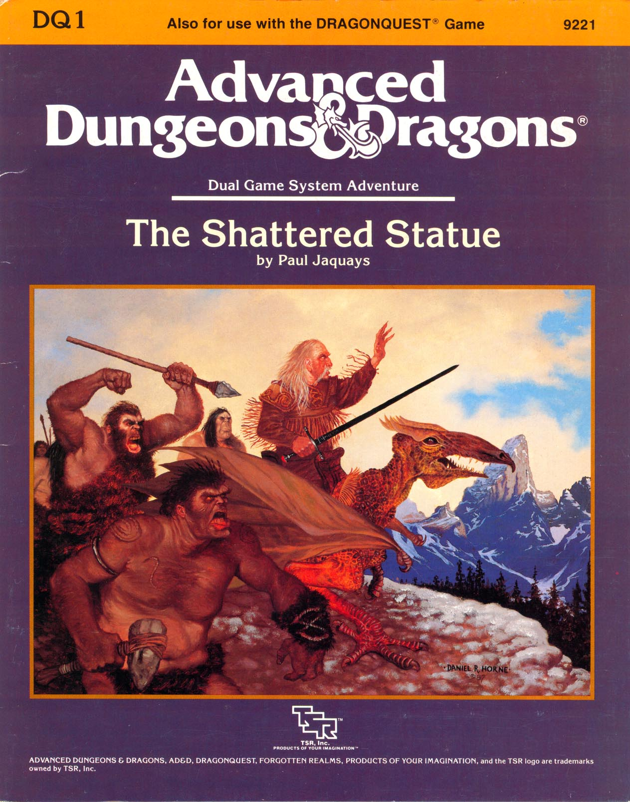 Cover of DQ1 The Shattered Statue