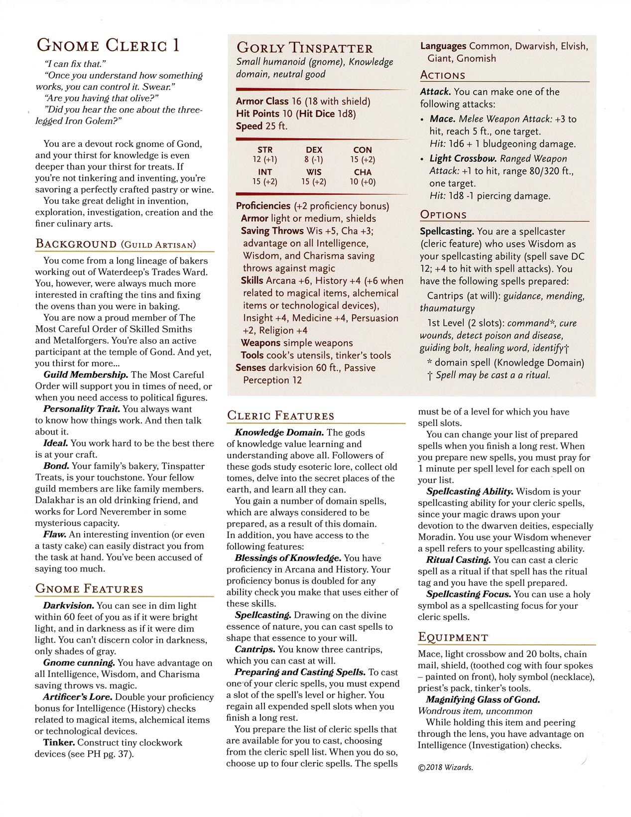 5th Edition Dungeons & Dragons Archive