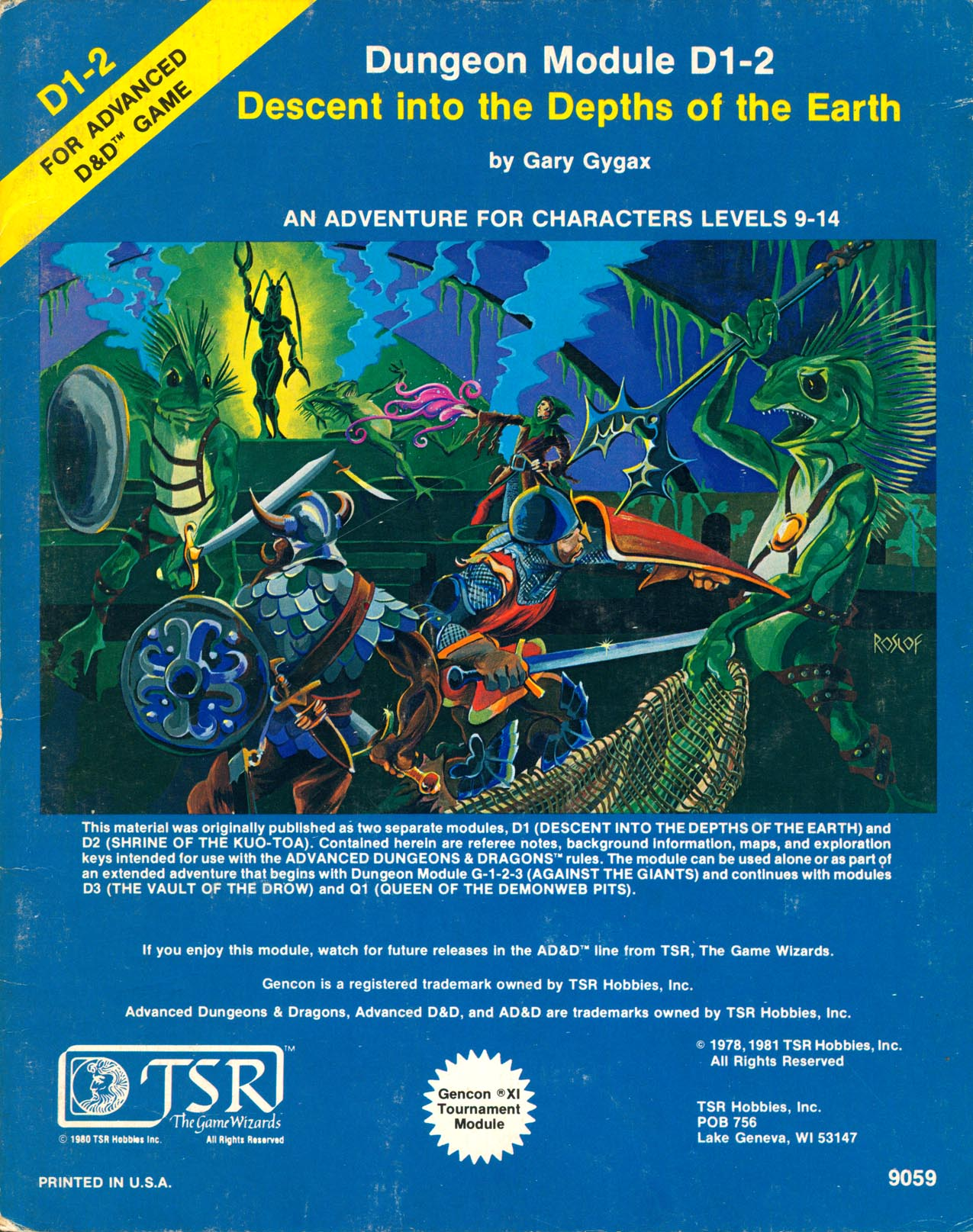 Cover of D1-2 Decent into the Depths of the Earth