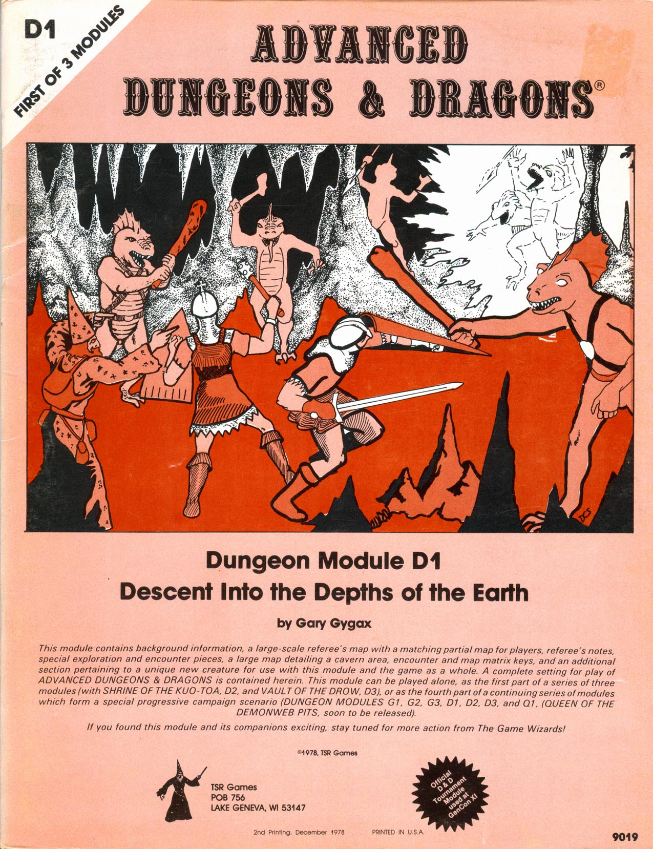 Cover of D1 Descent Into the Depths of the Earth