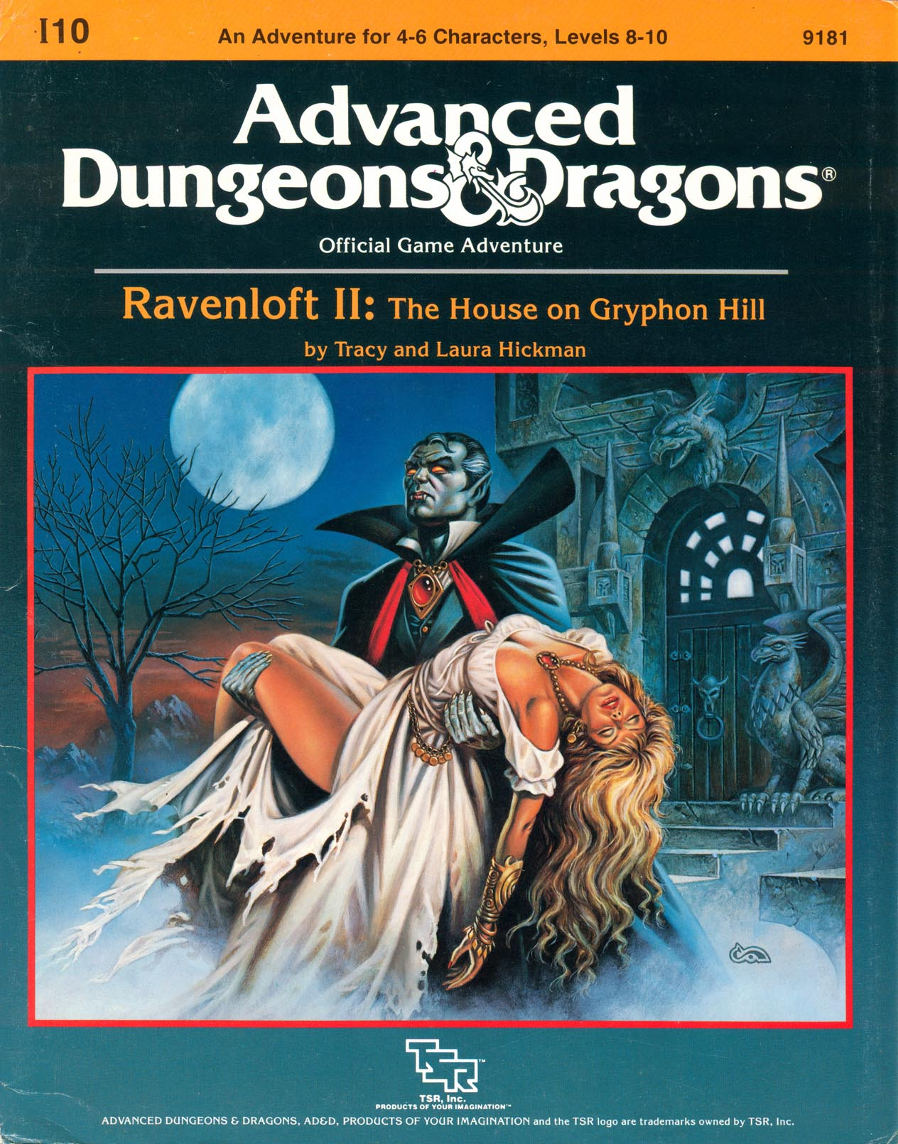 Cover of I10 Ravenloft II: The House on Gryphon Hill